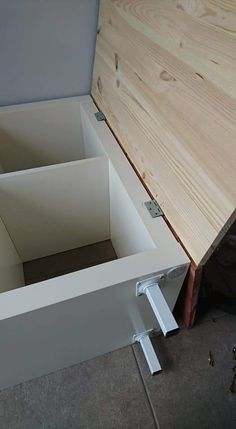 Ikea Furniture Hacks, Furniture Makeover, Diy Ikea Kallax, Ikea Malm, Diy Bedframe With Storage, Ikea Storage Cabinets, Ikea Hackers, Home Hacks, Ikea Stores
