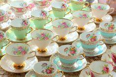 Luxury Vintage Fine Bone English China Tea Cup Sets