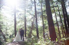 McMichael Art Museum bride and groom among tall trees Girly Things, Art Museum, Wedding Ceremony, Boston, Romantic, Bride, Wedding Dresses, Paradise, Groom