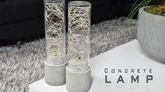 DIY Concrete Lamp | LED String Lights DIY Creators - YouTube