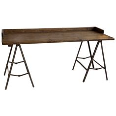Vintage Industrial Trestle Base Desk | From a unique collection of antique and modern desks and writing tables at http://www.1stdibs.com/furniture/tables/desks-writing-tables/