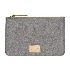 LACMA Store - Graf Lantz Flat Felt Pouch in Grey