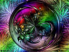 the furry feather rainbow flower