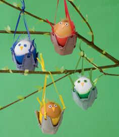 Rock-a-bye Birdies- cute little Easter craft!