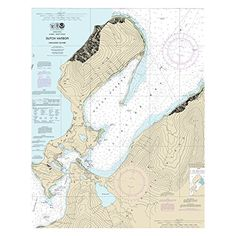 Dutch Harbor, Alaska Nautical Chart printed on sailcloth for home décor wall art print. Unique Textile Printing http://www.amazon.com/dp/B00V3UZK7Y/ref=cm_sw_r_pi_dp_MM8nwb1RYZE3W