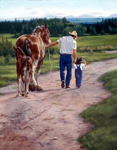 Artist, Animal and figurative artwork Classic Paintings, Cool Paintings, Horse Paintings, Cowboy Artwork, Cowboy Pictures, Animal Pictures, Western Photo, Horse Wallpaper, West Art