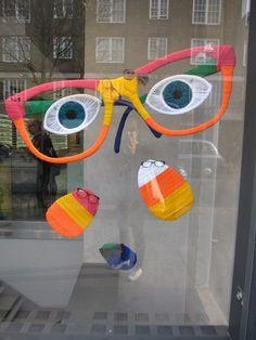 Spring window display.