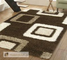 Mont Blanc Mb15 Choc/Beige - Modern Style Rugs