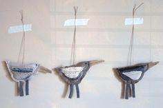 Recycled fabric birds