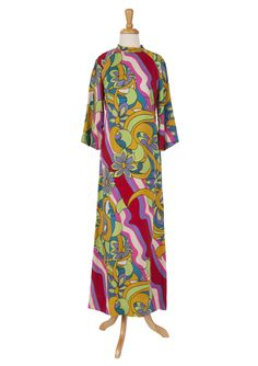 1960's Peter Max style psychedelic maxi dress.
