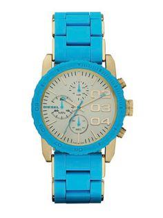 Diesel DZ5360 Men's Blue Silicone Bracelet Watch