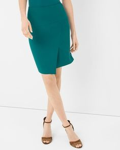 White House | Black Market Asymmetric Side Slit Pencil Skirt