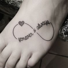 25 Finest Infinity Tattoo Designs that will make you believe that love and life . - 25 Finest Infinity Tattoo Designs that will make you believe that love and life are limitless – V - Infinity Tattoo Meaning, Infinity Couple Tattoos, Infinity Tattoo With Feather, Infinity Tattoo On Wrist, Infinity Tattoo Designs, Tattoos With Meaning, Tattoo Couples, Infinity Symbol, Cute Foot Tattoos