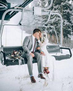 Ski Slope Wedding Photo Inspiration