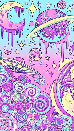 Kawaii Wallpaper, Galaxy Wallpaper, Cool Wallpaper, Wallpaper Backgrounds, Drawing Wallpaper, Trippy Wallpaper, Pastel Wallpaper, Pastel Lockscreen, Hipster Wallpaper