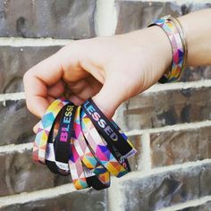 """These """"Blessed"""" bracelets are so cute, and they are a great daily reminder. Bright wrist-bands are soft and very comfortable on your wrists. Get your favorite design today at www.brightbands.com"""