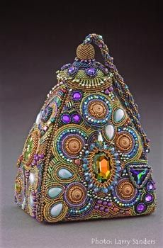 Incredible beaded purse by Sherry Serafini