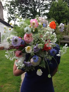 Armfuls of British flowers by The Garden Gate Flower Company