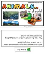 Animal Sorting File Folder Game by Habitats
