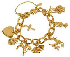 Monet 8-Charm Gold-Plated Bracelet