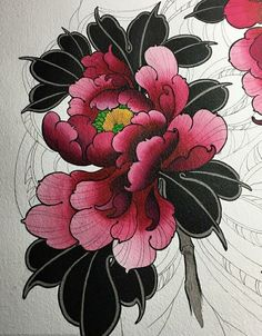 Flower tattoo design • Visit artskillus.ru for more tattoo ideas Back cover #tattoodesign