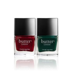 Holly Jolly Holiday Duo - ruby red glitter and hunter green