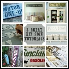 Simplicity In The South: Need Some Inspiration & A Tutorial? Well, Here's Your Sign {8 Great DIY Sign Tutorials}