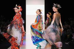 SLAVA ZAITSEV - MOSCOW, RUSSIA – MARCH 27: Models walk the runway at the SLAVA ZAITSEV Haute Couture show on day 1 of Mercedes-Benz Fashion Week Russia F/W 2014-2015 on March 27, 2014 in Moscow, Russia. (Photo by Oleg Nikishin/Getty Images for Mercedes-Benz Fashion Week Russia)