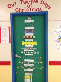 Peanuts christmas bulletin boards pinterest for 12 days of christmas door decoration