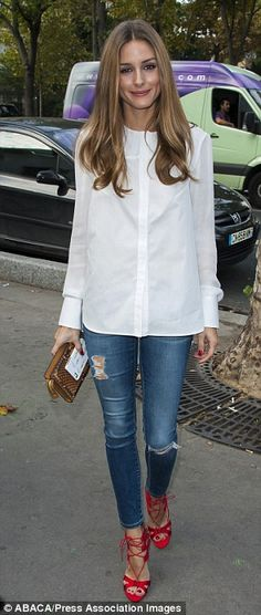 denim shirt looks Olívia Palermo - Pesquisa Google