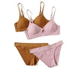 01ae83d2b08 Cinoon Brand High-End Brand Romantic Temptation Bra Set Women Fashion  Stripes Underwear Set Push Up Bra And Panties Set