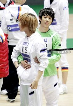 minho feeling possessive after all the scenes between taemin and jungmo - january 23rd 2011 MBC Idol Star Athletics Championship
