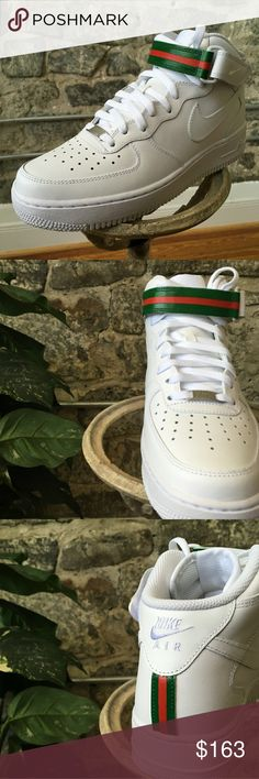 d8cedefa24 Gucci air force 1 Nike air force one gucci color way custom Nike Shoes  Sneakers