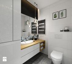 Aranżacje wnętrz - Łazienka: Projekt łazienki. Kraków Nowe Czyżyny - Mała łazienka w bloku bez okna, styl skandynawski - PRØJEKTYW | Architektura Wnętrz & Design. Przeglądaj, dodawaj i zapisuj najlepsze zdjęcia, pomysły i inspiracje designerskie. W bazie mamy już prawie milion fotografii!
