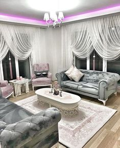 House Interior Design Ideas - Inspirational Interior Design Ideas for Living Room Design, Bed Room Design, Kitchen Style and the whole residence. My Living Room, Living Room Interior, Home Interior Design, Living Room Decor, Living Furniture, Home Decor Furniture, Fine Furniture, Drawing Room Furniture, Home Curtains
