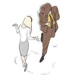 schrute courtship dance