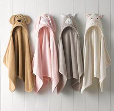 Animal hooded towel - newborn