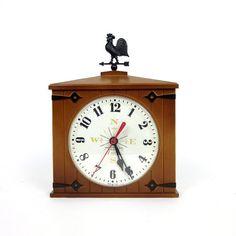 Early American Westclox Wall Clock 60s VGC / Farm by AttysVintage, $19.00