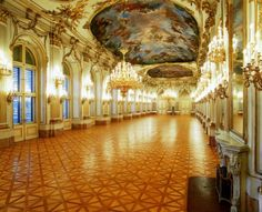 This is in the Schoenbrunn Palace in Vienna. Such beauty makes the soul sing.