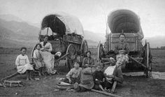 pioneers as they traveled on the Oregon Trail