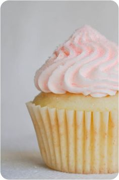 Champagne Cupcakes with Champage Buttercream Frosting Recipe - From: Lemon Sugar