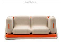 """A Modular Sofa """"Concentré de Vie"""""""