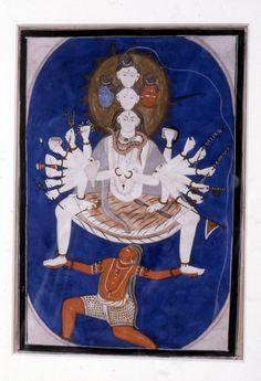 Cosmic Shiva, 1825–50, India. (Walters Museum)