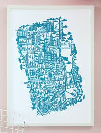New York - Cerulean Blue print- love the feel