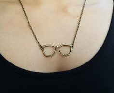 Spectacleframe Necklace Ecofriendly Charm Jewelry  by 2style, $3.99