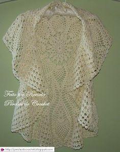 Circular Jacket free crochet graph pattern.