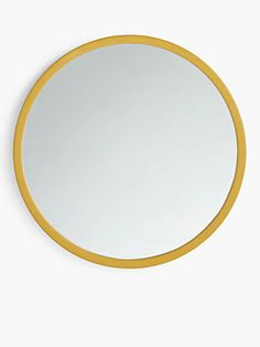 Buy Mustard House by John Lewis Round Edge Mirror, from our Mirrors range at John Lewis & Partners. Wall Mounted Mirror, Wall Hooks, Mirror Shapes, Well Thought Out, Round Mirrors, Image House, How To Know, Home Buying, John Lewis