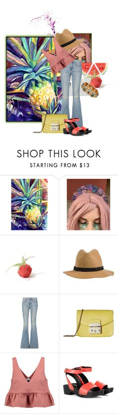 """Enjoying Cinco De Mayo , My Way!"" by the-house-of-kasin ❤ liked on Polyvore featuring RVCA, Current/Elliott, Furla, Elizabeth and James, Tomas Maier, Topshop and wideleg"