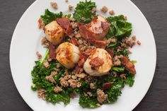 Scallops with Bacon,