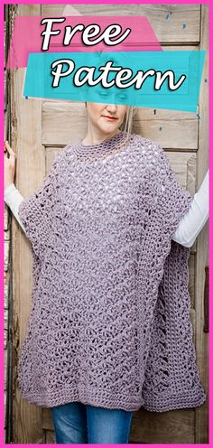 Blooming Petals Poncho Crochet Free Pattern – Woman s Clothes Fashion 1ea41d1e544